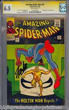 AMAZING SPIDER-MAN #35 CGC 6.5 SS STAN LEE 2ND APP MOLTEN MAN  #1191296003 dns