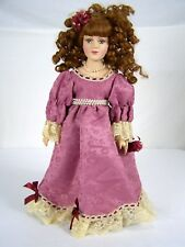DanDee The Collectors Choice Porcelain Doll Red Hair Pearls Dress Shoes 17""