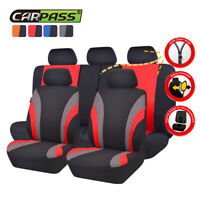 Universal Car Seat Covers Truck SUV Car Seat Cover Set Black Red for Holden Ford