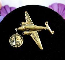 Airplane Flight NX18973 Howard Hughes 1939 NEW YORK WORLD'S FAIR Charm Pin RARE