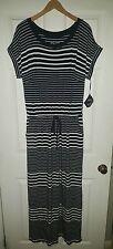 NWT SZ X 14W Ava & Viv Black & White Long Beach Casual Maxi Dress Dropped Sleeve