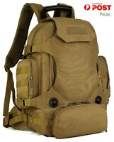 PJ 40L Waterproof Tactical Military MOLLE Assault Backpack Pack 3 Way Modular