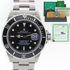 PAPERS Rolex Submariner Date 16610 A Serial Steel Watch Pre-Ceramic w Box C8
