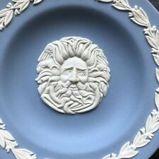 Vintage Blue Jasperware Wedgwood Pin Dish Plate Jupiter Man of the North