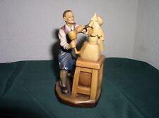 "ANRI, ULRICH BERNARDI CARVING COLLECTIBLE ""Master at Work"" ARTIST PROOF, SIGNED"