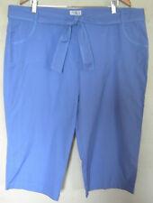 Ladies Womens Casual Pale Blue Cotton 3/4 Crop Capri Pants Millers Size 20