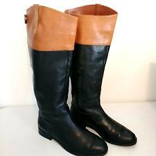 Lauren by Ralph Lauren RLL Jenessa Women's Brown/Black Polo Riding Boots 7.5 B