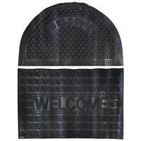 Heavy Duty Slip-Resistant Rubber Door Mat Welcome Design Outdoor Front Doormat
