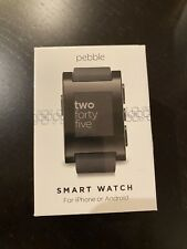 Pebble Smart Watch for iPhone or Android, Black Color, Model 301BL NIB