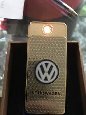 VolkswagenGold USB ReChargeable Wind proof cigarette lighter GiftBox U.K. Seller