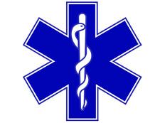 Signo de estrella de la vida de la etiqueta engomada Ambulancia Paramédico Magnético First responder 500mm