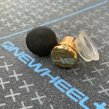 3 Pack - OneWheel Gold Metal Flat Charge Port Power Button Cover Cap Plus New