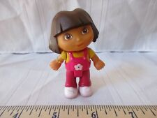 Dora doll house pvc figure cake topper moves  brown hair fun play yellow shirt