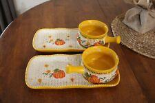 New listing Temp-tations Basketweave Soup & Sandwich set in Pumpkin Patch