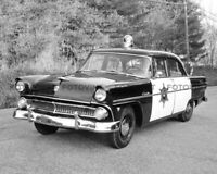 Vintage POLICE CAR Photo Picture 1955 FORD CUSTOMLINE Cop Cruiser Print 11x14