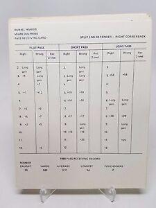 1980 Miami Dolphins Strat-O-Matic Football Team Complete Original