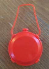 Barbie Doll Diorama Camping Red Ken Tool Canteen ~ Vintage