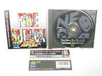 Neo Geo CD FIRE SUPLEX Spine * Neogeo SNK Game nc