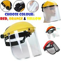 Full Face Shield Flip Up Clear Visor Mask PVC Protection Safety Guard Work Wear.