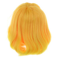 Cute DIY Wig Short Straight Hairpiece for 1/3 BJD SD Blythe Doll Accs Golden