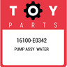 16100-E0342 Toyota Pump assy water 16100E0342, New Genuine OEM Part