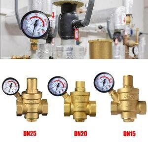 Druckminderer DN15 DN20 DN25 Wasser Messing Druckregler Reduzierventil Manometer