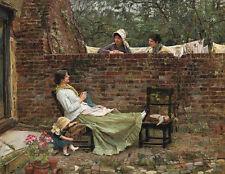 Gossip, John William Waterhouse fine ART CANVAS print