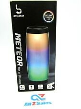 Bass Jaxx Meteor AUX-In Speaker, LED Color Changing , Rechargeable - NEW