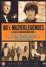 60'S MUZIEKLEGENDES (5-DVD) - DOORS/LEONARD COHEN/NEIL YOUNG/HARRISON