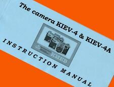 ENGLISH MANUAL for KIEV-4 KIEV-4A 35mm film rangefinder camera Contax BOOKLET