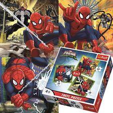 Trefl Disney 3 in 1 20+36+50 Piece Jigsaw Puzzle For Kids Marvel Spiderman World