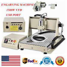1500w Usb Port 4 Axis Cnc Router 6040 Engraver Machine Woodworking 3d Milling