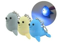 Seal Key Chain Ring with LED Light and Animal Sound Kid Toy gift
