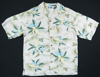 NWOT Tampa Bay Rays Hawaiian Floral Lee Sport MLB Baseball Camp Mens Shirt M