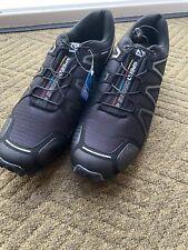 Black Mens Salomon Speedcross 4 Trail Running Trainers Size EU 44/9.5 UK