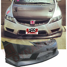 New 2006 11 Honda Civic USDM TYPE R Front Bumper W/ MESH + MUGEN LIP (BLACK PP)