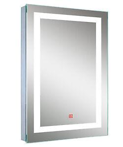Large Modern Illuminated LED Bathroom Mirror Light Sensor Switch 80 x 60cm