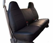 FORD F-250 350 BLACK IGGEE S.LEATHER CUSTOM FIT BENCH FRONT SEAT COVER