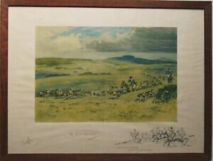Th R.A. Harriers by Snaffles An Original Pencil Signed Print Framed