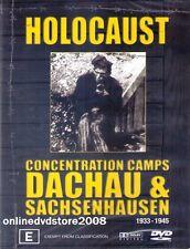 HOLOCAUST CONCENTRATION CAMPS - DACHAU & SACHSENHAUSEN - DVD (NEW SEALED) Reg 4