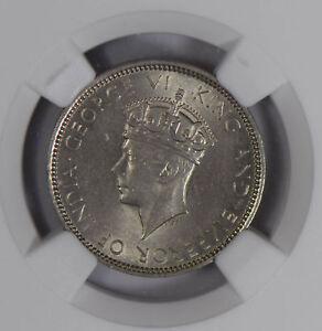 Hong Kong 1937 10 Cents NGC MS64 NG0778 combine shipping