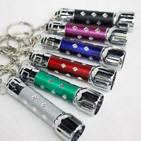 7 LED Aluminium Mini Torch Flashlight Small Super  Bright Battery SD