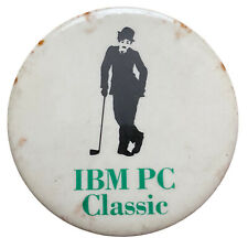 Charlie Chaplin IBM PC Classic Computer Ad Pin Button Vintage Collectible