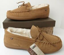 LAMO Mens Slippers Size 13 Cozy Moccasin Chestnut NEW WITH BOX