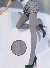 Damenstrumpfhosen mit Streifen ohne Kompression