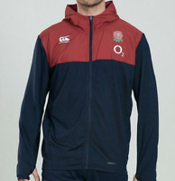 Canterbury England Full Zip Red/Blue Hooded Jacket Juniors Boys 9-10 Yrs *REF145