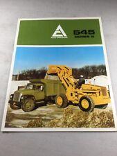 Original Allis Chalmers 545 Series B Wheel Loader Sales Brochure Booklet