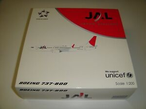 1/200 JCWings200 Japan Airlines JAL Boeing 737-800 JA304J