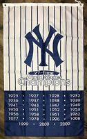 New York Yankees World Series Championship Flag 3x5 ft Vertical Sports Banner