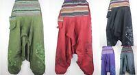 Vintage Trousers Hippie Wideleg Boho Harem Festival Pants Aladdin Yoga Ninja S24